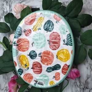 (3/$15) 15 Count Oval Disposable Holiday Plates